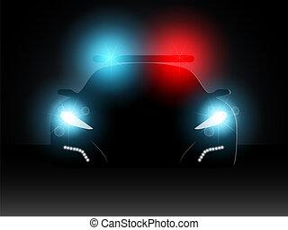 Police car. Vector illustration.
