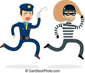 Police Chasing Thief