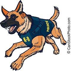 Police K9 German Shepherd Dog
