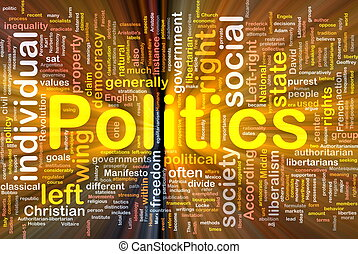 Background concept wordcloud illustration of social individual politics glowing light