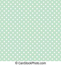 Polka dots vector mint background