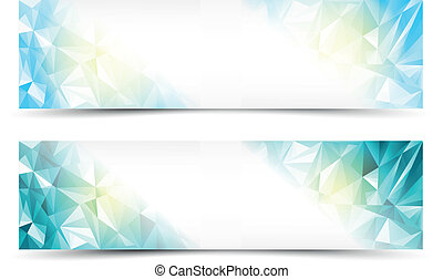 Polygon Abstract Background Banners
