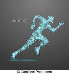 Polygonal running man