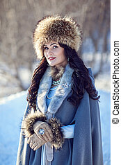 portrait of a girl in winter