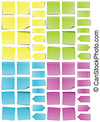 A multicolored set of abstract post-it notes.