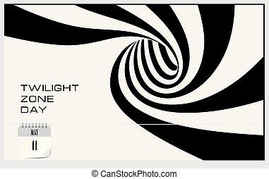Post card Twilight Zone Day. Calendar event.