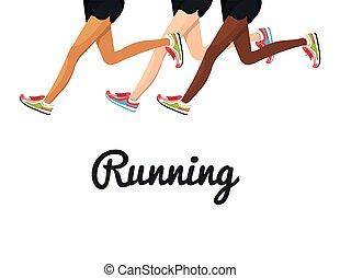 poster running legs design isolated