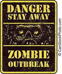 Poster Zombie Outbreak.