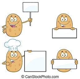 Potato Character 3. Collection Set