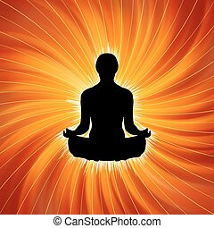 Power of Yoga - Meditation. EPS 8 vector file included
