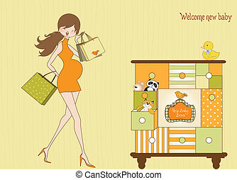 pregnant woman on shopping