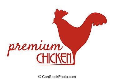 Premium chicken sign