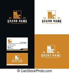 Premium, horse, cat and dog logo design luxury vector