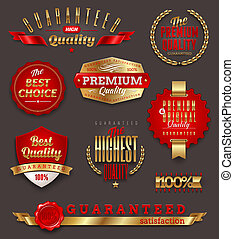 Premium quality golden labels