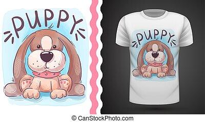 Pretty dog - idea for print t-shirt