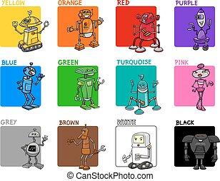 primary colors cartoon set