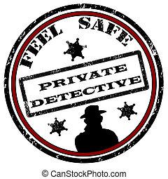 Private detective stamp