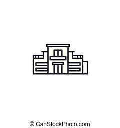 Private house linear icon concept. Private house line vector sign, symbol, illustration.