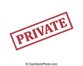 Private Rubber Stamp. Private Stamp Seal ? Vector