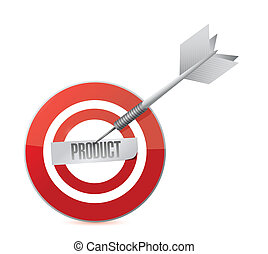 product target and dart illustration design