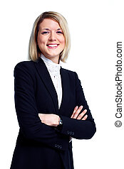 Professional business woman. Isolated over white background.