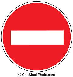 Prohibiting sign brick