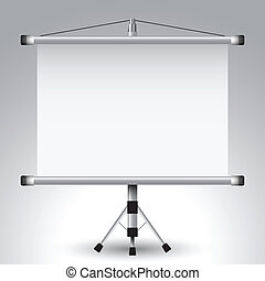 projector roller screen, abstract vector art illustration; image contains transparency
