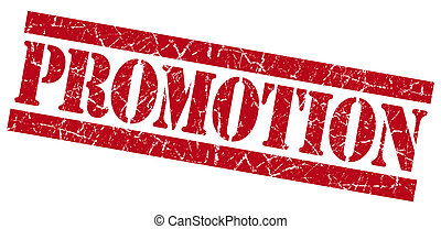 Promotion grunge red stamp