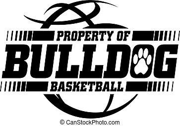 property of bulldog basketball team design for school, college or league