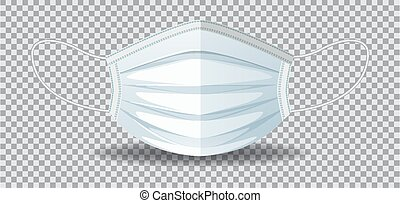 Protection face mask isolated illustration