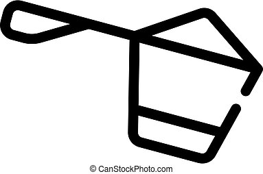 protein spoon line icon vector symbol illustration