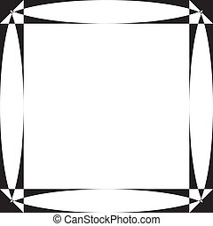 Pseudo parabolic screen frame on transparency background element