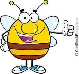 Pudgy Bee Giving A Thumb Up