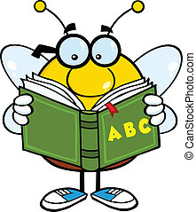 Pudgy Bee Reading A ABC Book