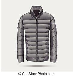 Puffer bomber jacket template.