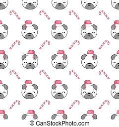 Pug dog. Seamless vector pattern (background).
