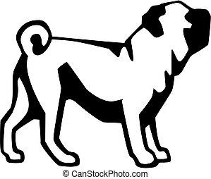 vector illustration of pug dog