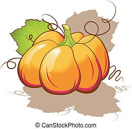 Vector pumpkin. Isolated on white. EPS 8, AI
