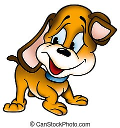 Puppy dog 2 - High detailed and coloured illustration