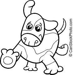 puppy dog cartoon coloring book