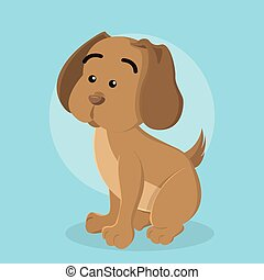 puppy vector illustration design