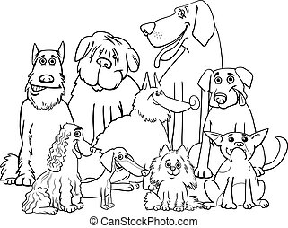 purebred dogs coloring page