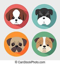 purebred dogs design