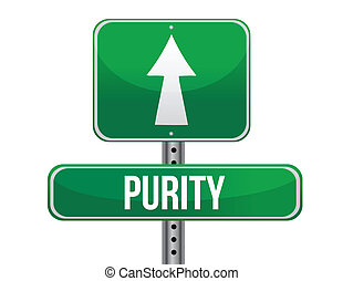 purity road sign illustration design over a white background