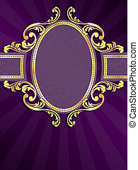 stylish vector label with metallic swirls. Graphics are grouped and in several layers for easy editing. The file can be scaled to any size.