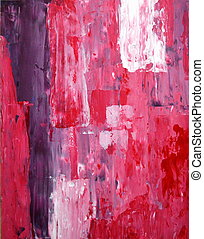 Purple and Pink Abstract Art