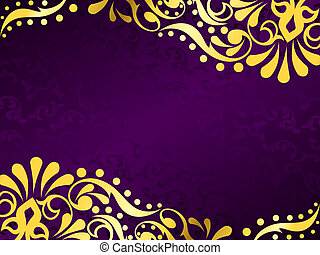 stylish vector background with a metallic victorian pattern. Graphics are grouped and in several layers for easy editing. The file can be scaled to any size.