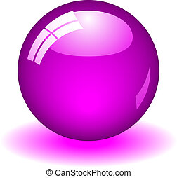 Illustration of a purple ball. Available in jpeg and eps8 formats.