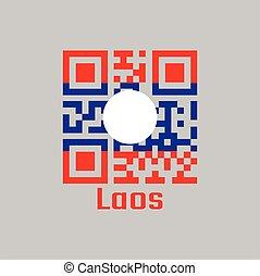 QR code set the color of Laos flag.