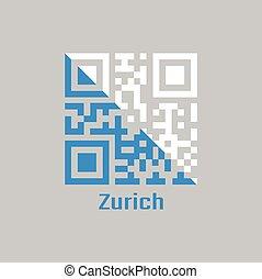 QR code set the color of Zurich flag